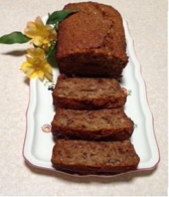Lesley's banana and date loaf  (gluten and sugar free)