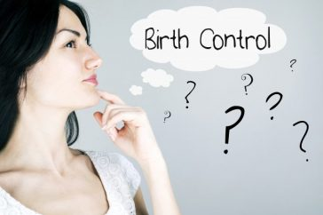 Woman thinking about birth control