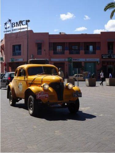 rally car in Marrakech